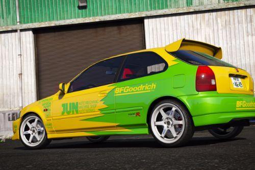 JUN Auto Civic EK9 [8K / 4K] Paintjob