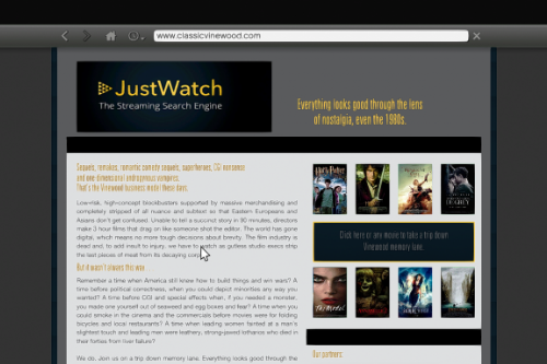 "JustWatch Streaming ""Real"" Website"