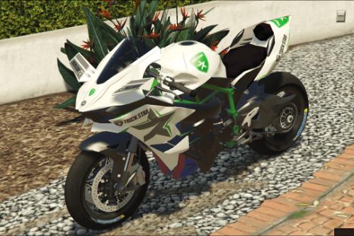 Kawasaki Ninja H2 R Trickstar Livery [Add-on]
