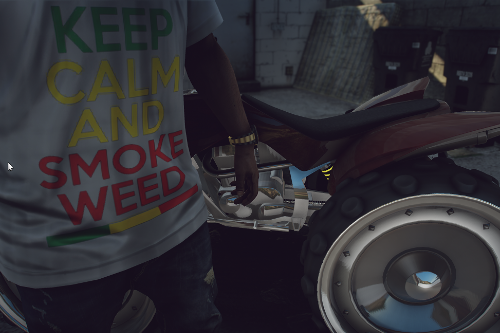 Keep Calm And Smoke T-shirt (Franklin)