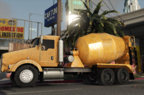 Kenworth T800 Cement Mixer Truck [Replace | LODs]