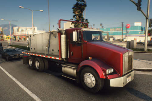 Kenworth T800 Flatbed Truck [Replace | Animated | LODs]