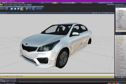 2017 KIA Rio K2 Sedan (DEV Model) [.z3d, .blend, .obj, .fbx, .dae]