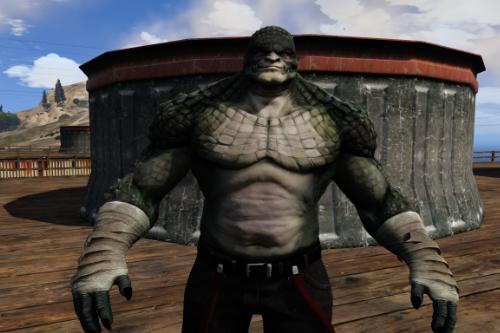 Killer Croc From Arkham Origins [Add-On Ped]