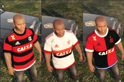 T-Shirts Soccer C.R. Flamengo Adidas Kit 2015/2016
