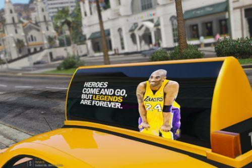 Kobe Bryant Memorial Taxi Signs (4K) OIV