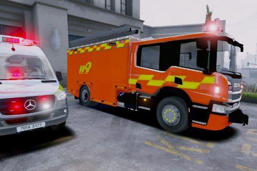 Korea Fire Truck Skin Pack_119소방차