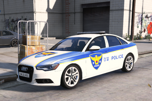Korean Police Paintjob for 2013 Audi A6 Saloon