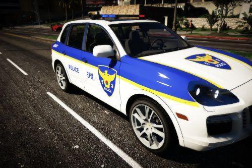 KOREA POLICE Porsche cayenneㅣ한국 경찰 포르쉐 카이엔