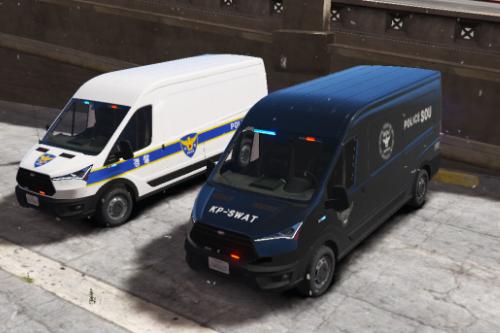 KR PD POLCE&SOU VAN / 한국 경찰 경찰&특공대 밴차량