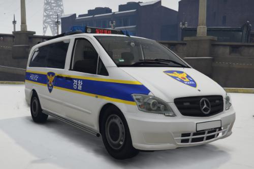 KR PD TRAFFIC BAN / 한국 경찰 교통 밴
