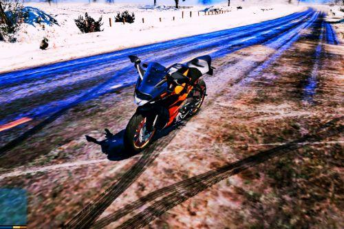 KTM RC 200 (2017) V2 New Skin With Angel Lights