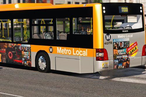 LA Metro Bus MAN Lions livery
