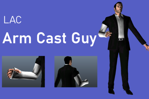 LAC Arm Cast Guy [Add-On Ped]