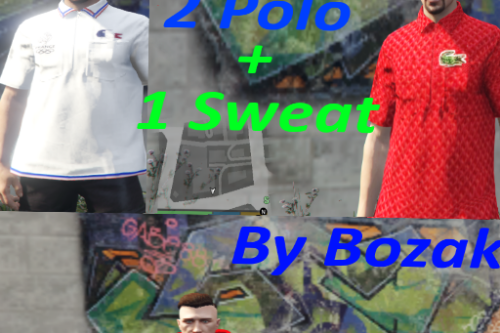 Lacoste Sweatshirt And 2 Polos [For MP Male]