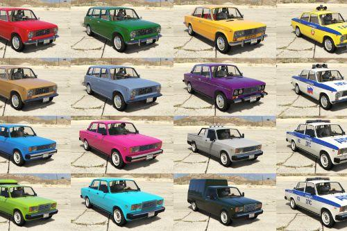 LADA Classic cars pack [Add-On | Extras | Tuning]