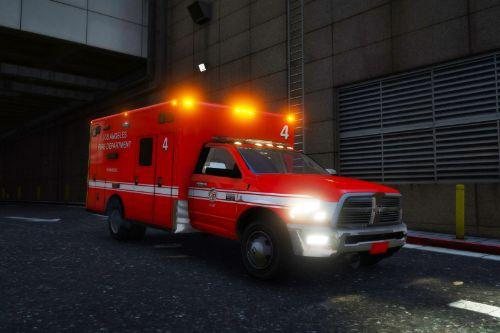 LAFD/LA EMT Current ambulance
