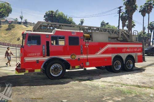 LAFD Ladder Firetruck