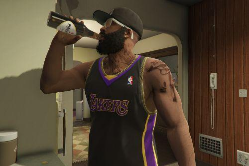 NBA Lakers Jersey and Compton T-shirt (Clothes pack)