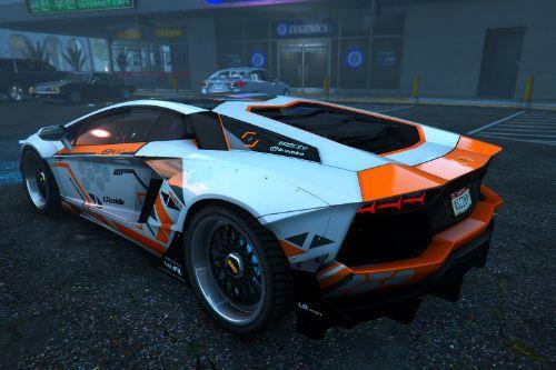 Lamborghini Aventador LP700-4 Asiimov Edition Paintjob