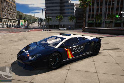 Lamborghini Aventador Policia Nacional/CNP of Spain/España[FiveM-Replace-Add-on]