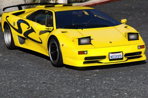 Lamborghini Diablo SV 1995-2001 [Add-On | Template | LODs | Extras]