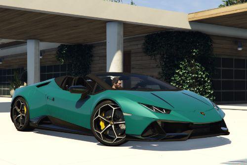 Lamborghini Huracan Evo Spyder 2020 Black Stripes Livery [2K]