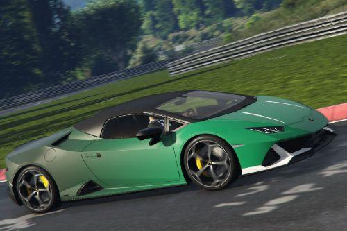 Lamborghini Huracan Evo Spyder 2020 The Burnt Green Livery [2K]