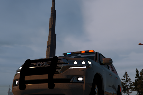 Land Cruiser 2016 Police [Template] [ FiveM Ready ] [ Replace ]