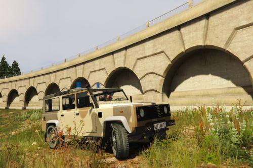 Land Rover Defender 110 Desert Camo Military Texture