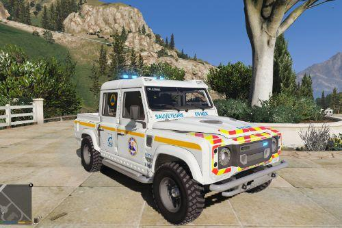 Land rover defender  110  French SNSM noELS-ELS
