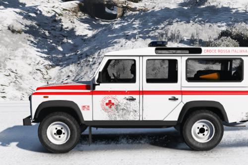 Land Rover Defender 110 SW Croce Rossa Italiana Paintjob