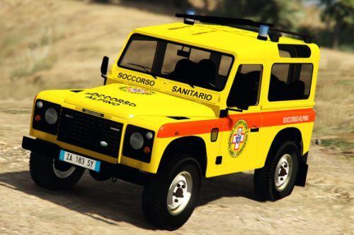 Land Rover Defender - Soccorso Alpino - Sanitario | Reskin