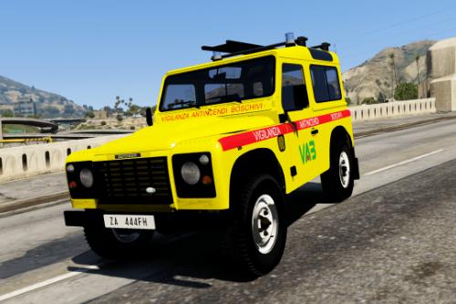 Land Rover Defender - Vigilanza Antincendi Boschivi VAB (Paintjob | FiveM)