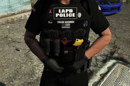 LAPD Los Angeles Police Dep bulletproof vest