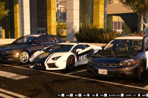 LAPD Police Skins for Audi S4 & Chevrolet Impala [2K]