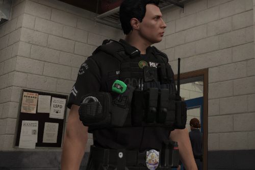 LAPD Style Vest with Green X26 Taser for EUP