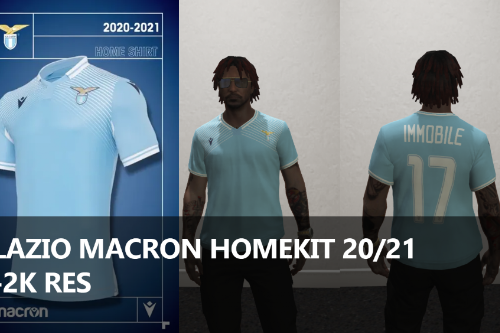 LAZIO MACRON FOOTBALL JERSEY 20/21 [Fivem Ready]