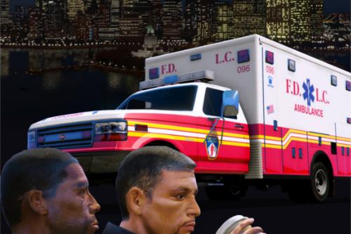 LC/FDLC EMS Retro Vapid Ambulance Texture Pack