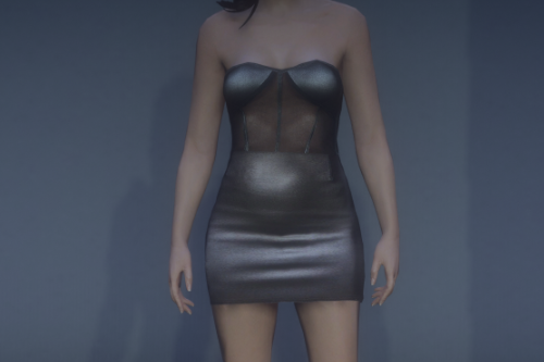 Leather dress MP female.