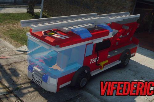 Lego City - Firetruck Ladder  Add-on/Replace  [ELS]