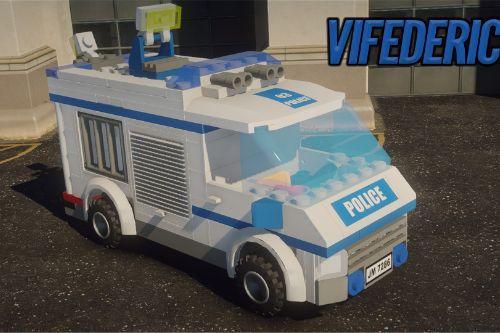 Lego City Police prisoner transporter [ELS]