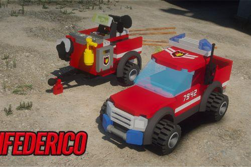Lego City - Utility Offroad - Firefighter  Add-on/Replace  [ELS]