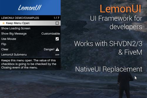 LemonUI: Open Source UI Library
