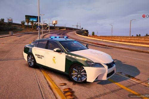 Lexus GS350 Guardia Civil Tráfico [Fivem-Replace-Add-on]