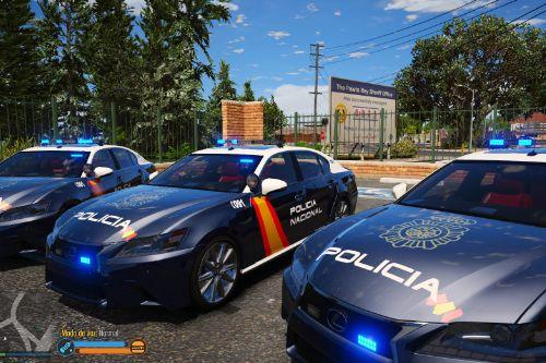 Lexus GS350 Policia Nacional [Fivem-Replace-Add-on]