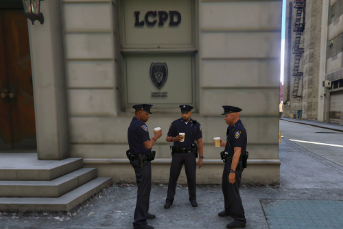 Liberty City Middle Park East LCPD Station Life