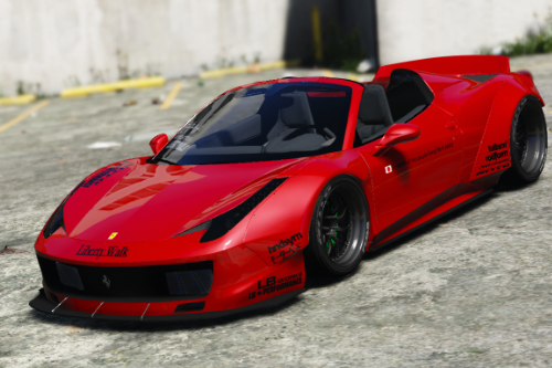 Liberty Walk Ferrari 458 Spider [Add-On | Tuning | Livery]