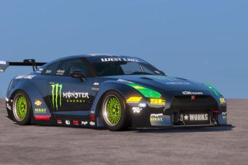 [Liberty Walk Nissan GT-R]Monster Energy livery