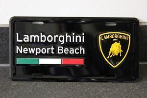 47a687 lamborghini newport beach license plate insert 1766496